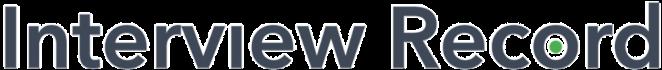Interview record - logo kolor z cieniem 6